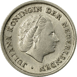 Coin, Netherlands, Juliana, 10 Cents, 1958, VF(30-35), Nickel, KM:182
