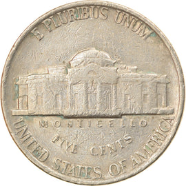 Coin, United States, Jefferson Nickel, 5 Cents, 1979, U.S. Mint, Denver