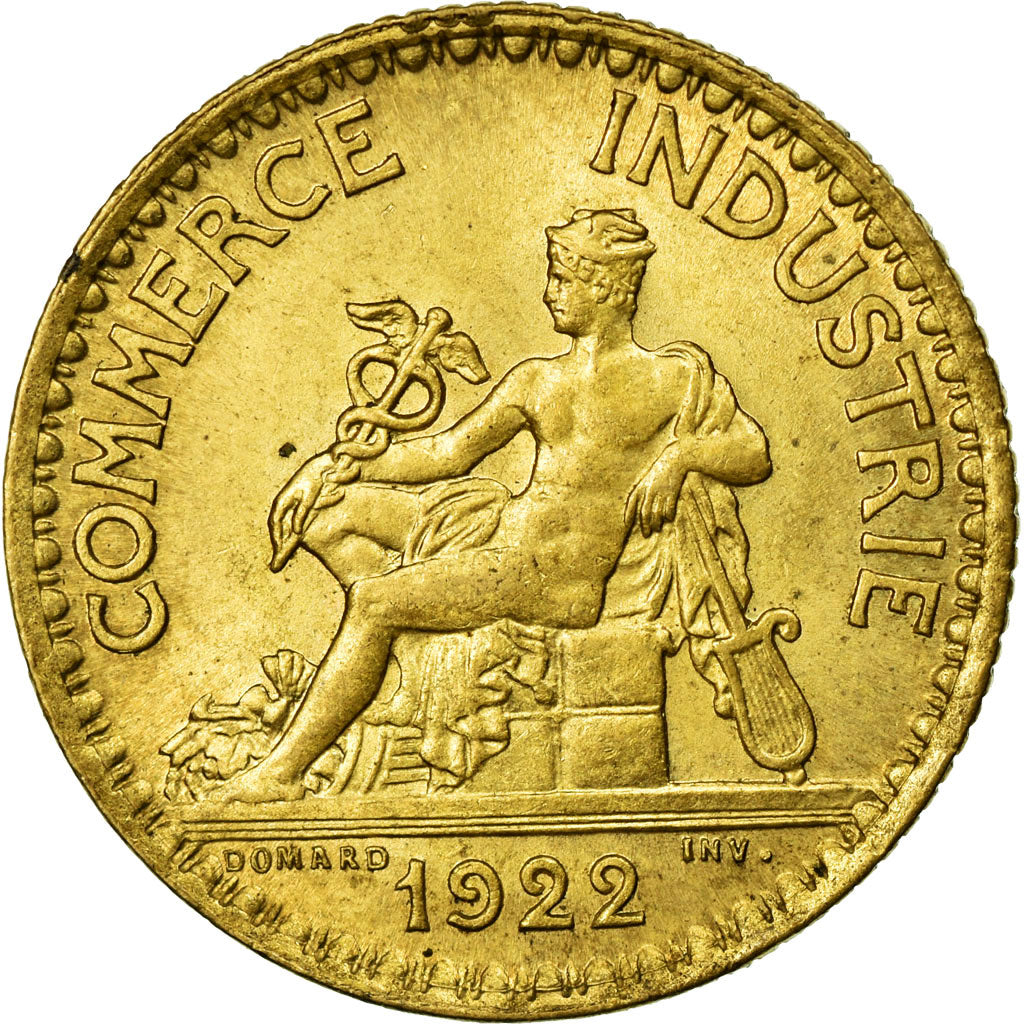 Coin, France, Chambre de commerce, Franc, 1922, MS(60-62), Aluminum-Bronze