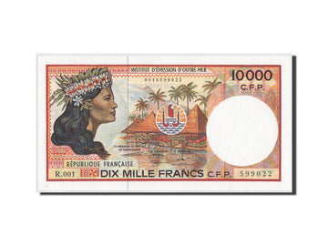 French Pacific Territories, 10,000 Francs, 1986, KM:4b, UNC