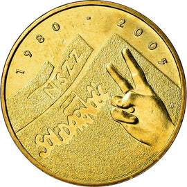 Coin, Poland, 2 Zlote, 2005, Warsaw, MS(60-62), Brass, KM:565