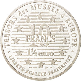 Coin, France, 10 Francs-1.5 Euro, 1997, Paris, EF(40-45), Silver, KM:1297