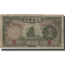 Banknote, China, 5 Yüan, 1935, 1935, KM:154a, VF(20-25)
