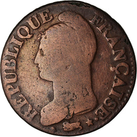 Coin, France, Dupré, 5 Centimes, AN 5, Paris, VF(20-25), Bronze, KM:640.1