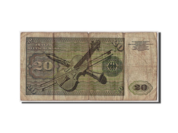 Banknote, GERMANY - FEDERAL REPUBLIC, 20 Deutsche Mark, 1960, 1960-01-02