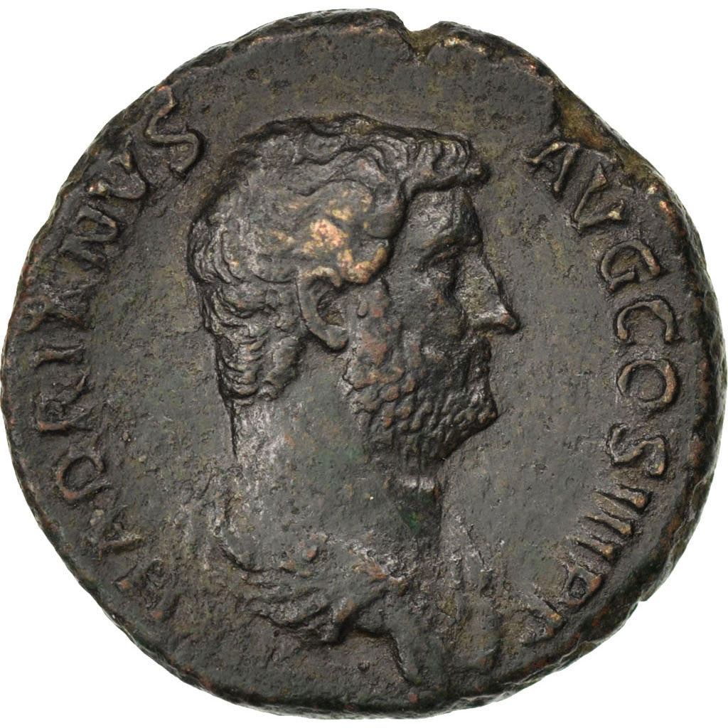Coin, Hadrian, As, Roma, EF(40-45), Bronze, RIC:839
