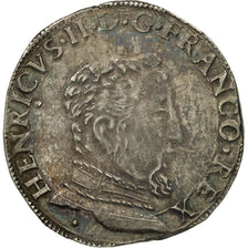 Coin, France, François II, Teston, 1560, Toulouse, AU(50-53), Silver