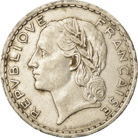 Coin, France, Lavrillier, 5 Francs, 1936, Paris, EF(40-45), Nickel, KM:888
