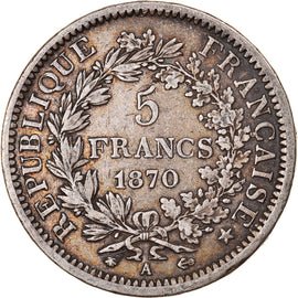 Coin, France, Hercule, 5 Francs, 1870, Paris, EF(40-45), Silver, KM:820.1