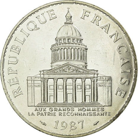 Coin, France, Panthéon, 100 Francs, 1987, Paris, MS(60-62), Silver, Gadoury:898