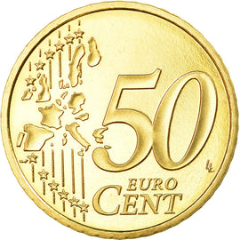 France, 50 Euro Cent, 2000, Proof, MS(65-70), Brass, KM:1287