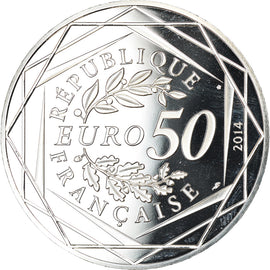 France, 50 Euro, Paix, Sempé, 2014, BE, MS(65-70), Silver