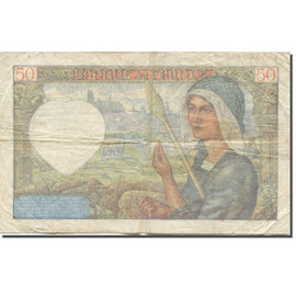 France, 50 Francs, Jacques Coeur, 1941, 1941-02-13, VG(8-10), Fayette:19.6