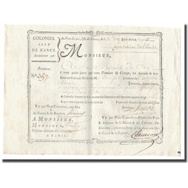 France, Traite, Colonies, Isle de France, 10.000 Livres, Expédition de l'Inde