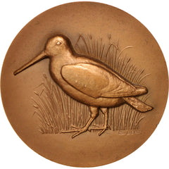 France, Hunting medal, dog and bird, Medal,1968, AU(55-58), Gibert, Bronze, 49mm