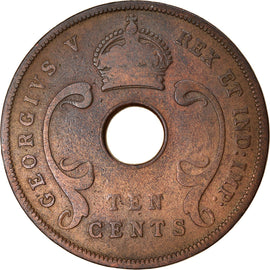 Coin, EAST AFRICA, George V, 10 Cents, 1925, VF(30-35), Bronze, KM:19