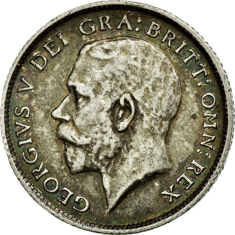 Coin, Great Britain, George V, 6 Pence, 1914, AU(50-53), Silver, KM:815