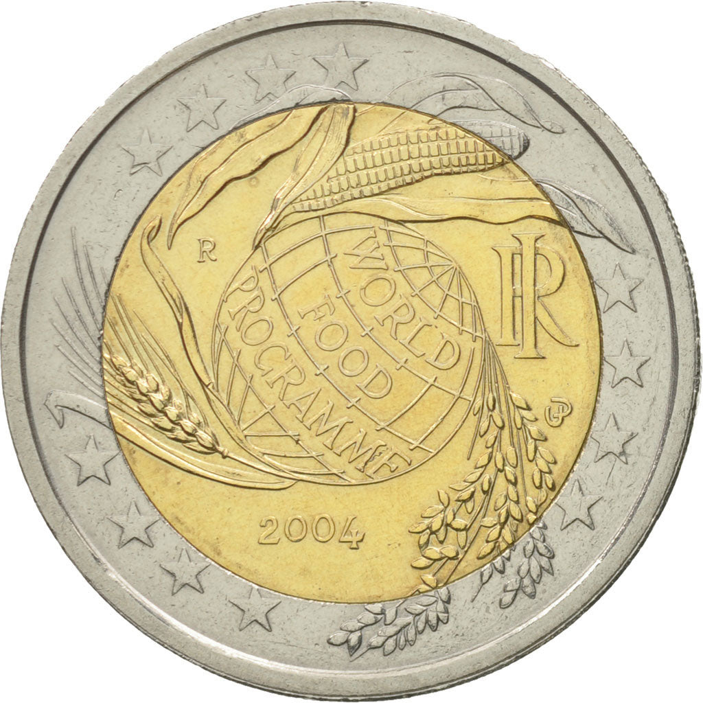 582418 Italy 2 Euro World Food Programme 2004 Ms 60 62 Bi Metallic Ebay