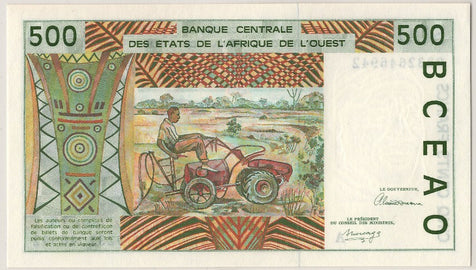 Banknote, West African States, 500 Francs, 1992, UNC(65-70)