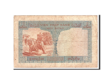 Banknote, FRENCH INDO-CHINA, 1 Piastre = 1 Dong, 1954, Undated, KM:105