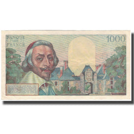 France, 1000 Francs, Richelieu, 1954, 1954-05-06, UNC(60-62), Fayette:42.5