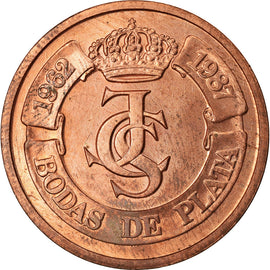Spain, Medal, Ceca de Madrid, Bodas de Plata, 1987, Proof, MS(63), Copper
