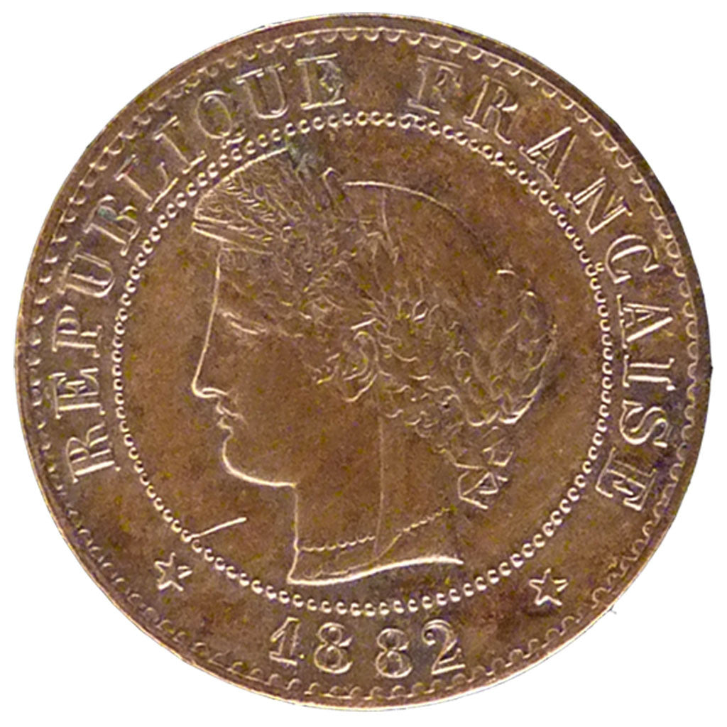Coin, France, Cérès, Centime, 1882, Paris, EF(40-45), Bronze, Gadoury:88