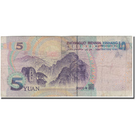 Banknote, China, 5 Yüan, 2005, KM:903, F(12-15)