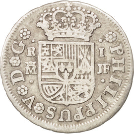 SPAIN, Real, 1741, Madrid, KM #298, EF(40-45), Silver, 2.78