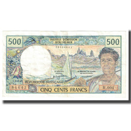 Banknote, French Pacific Territories, 500 Francs, KM:1a, EF(40-45)