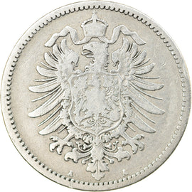 Coin, GERMANY - EMPIRE, Wilhelm I, Mark, 1875, Berlin, EF(40-45), Silver, KM:7