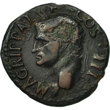 Agrippa, As, Rome, VF(30-35), Bronze, RIC:58