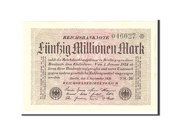 Banknote, Germany, 50 Millionen Mark, 1923, 1923-09-01, KM:109b, UNC(63)