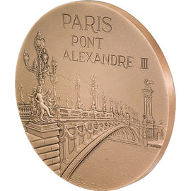 FRANCE, Arts & Culture, The Fifth Republic, Medal, bridge, MS(65-70), Bronze
