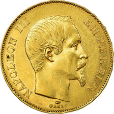 Coin, France, Napoleon III, 50 Francs, 1856, Paris, EF(40-45), Gold