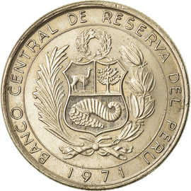 Coin, Peru, 10 Soles, 1971, Lima, AU(50-53), Copper-nickel, KM:255