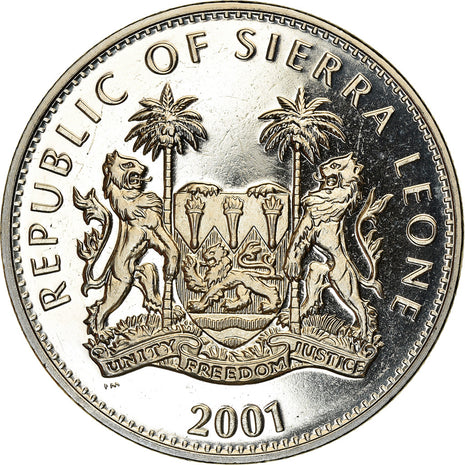 Coin, Sierra Leone, Dollar, 2001, Pobjoy Mint, The big five - Les 5 animaux