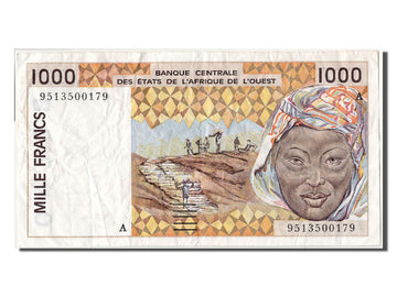 West African States, 1000 Francs, 1995, KM #111Ae, EF(40-45), 9513500179