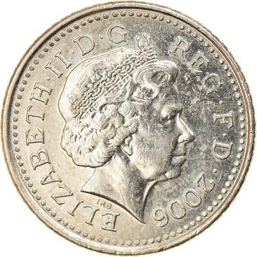 Coin, Great Britain, Elizabeth II, 5 Pence, 2006, AU(55-58), Copper-nickel