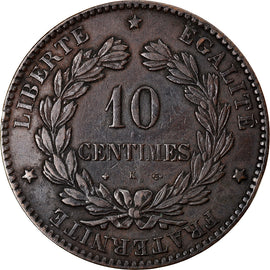 Coin, France, Cérès, 10 Centimes, 1878, Bordeaux, EF(40-45), Bronze, KM:815.2