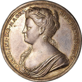 Great Britain, Medal, Couronnement de la reine Caroline, 1727, MS(63), Silver