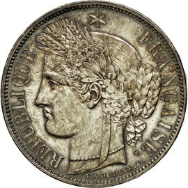 Coin, France, Cérès, 5 Francs, 1849, Paris, AU(55-58), Silver, KM:761.1
