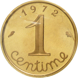 Coin, France, Centime, 1972, MS(65-70), Gold, KM:P439, Gadoury:4.P3