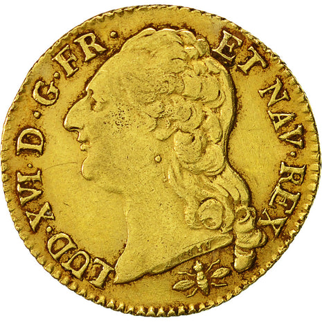 Coin, France, Louis d'Or, 1787, Lyon, EF(40-45), Gold, Gadoury:361