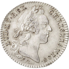 France, Token, Royal, Louis XV, 1758, AU(55-58), Silver, Feuardent:858