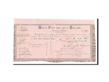 Senegal, 250 Francs, 1850, 1850-04-23, AU(55-58)