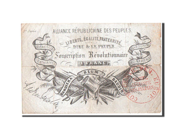 France, Alliance Républicaine des Peuples, 1 Franc, 1852, Pick UNL