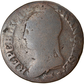 Coin, France, Dupré, 5 Centimes, AN 8, Metz, VF(20-25), Bronze, KM:640.2