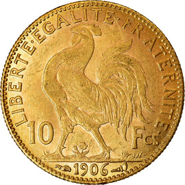 Coin, France, Marianne, 10 Francs, 1906, Paris, AU(55-58), Gold, KM:846