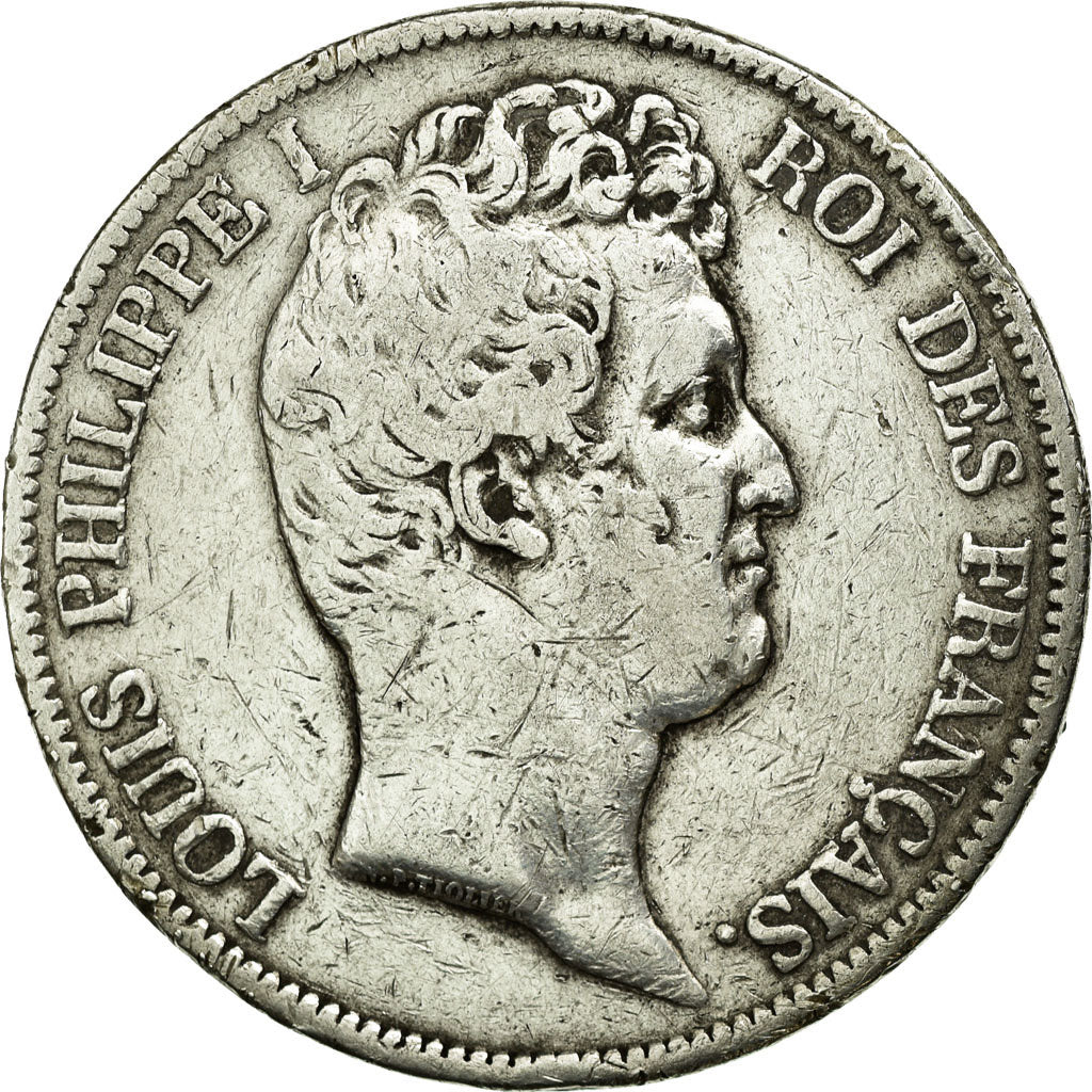 Coin, France, Louis-Philippe, 5 Francs, 1831, Lyon, VF(30-35), Silver, KM:735.4